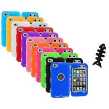 Deluxe Hybrid Case Cover+Protector+Cable Wrap for iPod Touch 4th Gen 4G 4
