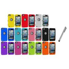 Deluxe Hybrid 3-Piece Case Cover+Protector+Metal Pen for iPod Touch 5th 5G