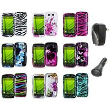 Design Hard Case Cover Accessory+2X Chargers for Blackberry Torch 9850 9860