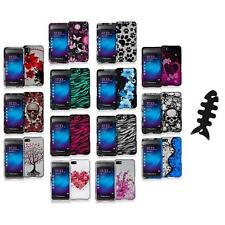 Design Hard Snap-On Rubberized Case Cover+Cable Wrap for Blackberry Z10 Phone