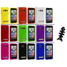 Color Hard Snap-On Rubberized Case Cover+Cable Wrap for HTC Sprint EVO 4G