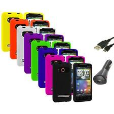 Color Silicone Gel Soft Case Cover+Charger+USB for HTC Sprint EVO 4G Accessory