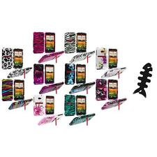 Design Hard Snap-On Case Cover Accessory+Cable Wrap for HTC EVO 4G LTE Sprint