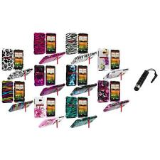 Design Hard Snap-On Case Cover Accessory+Stylus Plug for HTC EVO 4G LTE Sprint