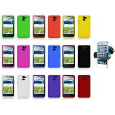 For Huawei Premia 4G M931 Color Hard Snap-On Rubberized Case Cover+Car 360 Mount