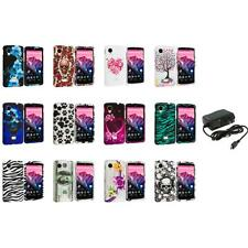 For LG Google Nexus 5 Design Hard Snap-On Case Cover Accessory+Wall Charger