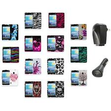 For LG Lucid 2 VS870 Color Hard Design Rubberized Case Cover+2X Chargers