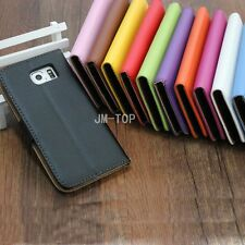 For Sony Xperia Genuine Real Leather Flip Wallet Card Holder Stand Case Cover
