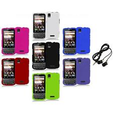 Color Hard Snap-On Rubberized Case Cover+Headphones for Motorola Xprt MB612