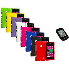 For Nokia Lumia 521 Snap-On Hard Rubberized Matte Case Cover Sticky Pad