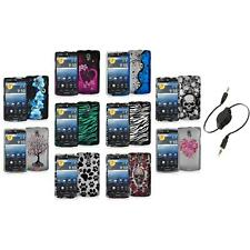Color Hard Design Snap-On Case Cover Accessory+Aux Cable for Pantech Discover