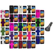 Hybrid Mesh Case Cover+Car Charger for Samsung Sprint Galaxy S2 S II Epic Touch