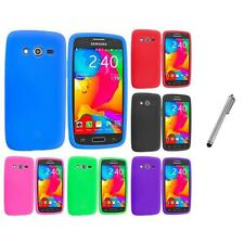 For Samsung Galaxy Avant G386 Silicone Rubber Case Cover Stylus Plug