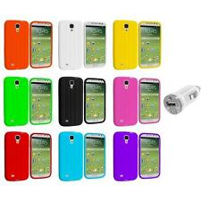 Tire Tread Soft Silicone Case Cover+USB Charger for Samsung Galaxy S4 SIV i9500