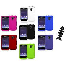 Color Hard Rubberized Case Cover+Cable Wrap for ZTE Avid 4G N9120 Metro PCS