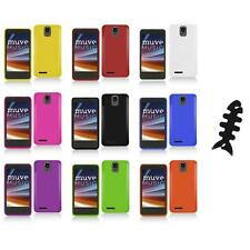 For ZTE Engage LT N8000 Color Hard Snap-On Matte Case Cover+Cable Wrap