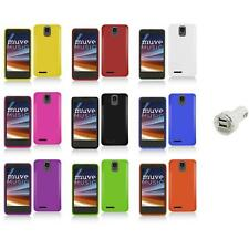 For ZTE Engage LT N8000 Color Hard Snap-On Matte Case Cover+Dual Charger