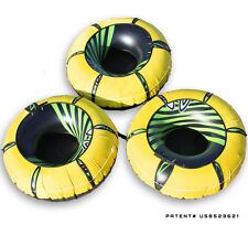 3 Pack Intex River Rat Lounge Tube with Yellow HEAVY DUTY Covers. Run Float