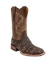 Lucchese M4343 Mens Chocolate Cafe Giant Alligator Leather Western Cowboy Boots