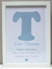 Personalised New Baby Gift Present Boy Girl Christening Newborn Print or Frame