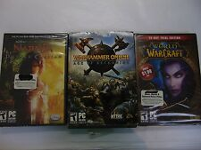 BRAND NEW Game Lot Windows PC Narnia Warhammer Online World of Warcraft #1830