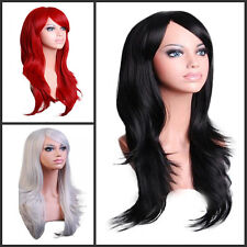 Black Red White Hot Sell Wavy Long Women Heat Daily Cosplay Party Full Hair Wigs