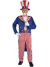 Uncle Sam 4Th July American Stars & Stripes Men Fancy Dress Costume US Flag USA