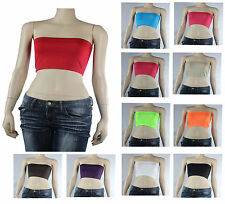 Cute Strapless Tube Bandeau Bra-Sexy Crop Yoga Top Stretch Casual Solid One Size