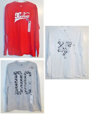 DC Shoes Mens Long Sleeve T-Shirts 3 Choices Sizes Small, Medium and XLarge NWT