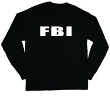 long sleeve t-shirt for men FBI design costume uniform fbi black shirt