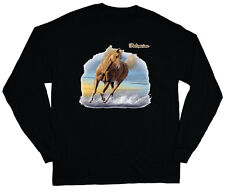 long sleeve t-shirt for men Palomino horse breed men's black shirt