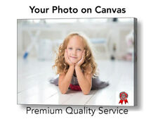 "Your Photo Picture Canvas Print - Personalised Canvas Ready to Hang 12"" x 8"" A4"