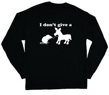 long sleeve t-shirt for men I don't give a rat's ass funny t-shirt sarcasm humor