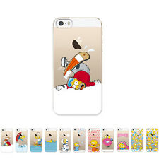 Gcase Slim Clear Simpsons Shockproof Bumper Cover Case For Apple iPhone 5 / 5S