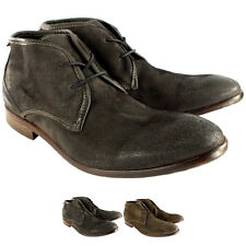 Mens H By Hudson Cruise Suede Lace Up Shoes Smart Ankle Boots UK Sizes 7-13