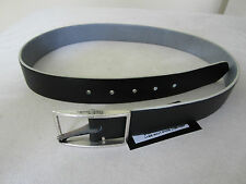 Paul Smith Grained Leather Belt - Reversible (blue / black) in effect 2 belts