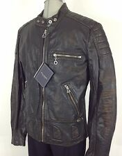 Andrew Marc NEW Black/Brown Vintage Motorcycle Jacket w Detachable Liner size XL
