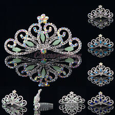 Crystal Rhinestone Wedding Flower Girl Princess Tiara Crowns Kids Headpiece Comb