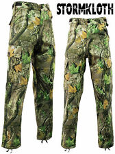 Stormkloth Camouflage Waterproof Camo Cargo Trousers Hunting Fishing Outdoor