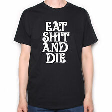 Old Skool Hooligans Eat Sh*t And Die T Shirt - Retro Psychedelic 70's Freak Out