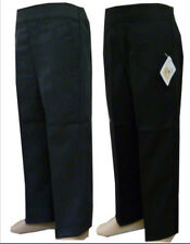 BOYS SCHOOL PULL UP ELASTICATED TROUSERS BLACK GREY TEFLON PROTECTOR AGE 1-8YEAR