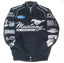 Authentic Mustang Racing Black Embroidered Cotton Jacket JH Design  New