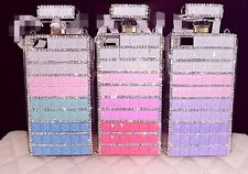 3D Bling crystal Diamond Perfume Bottle Crystal Chain Case TPU Cover