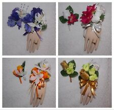 2PCS Corsage Boutonniere Mini Rose Set Many colors Pick Wrist or Pin On Corsage