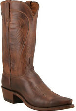 Lucchese N1596 Mens Tan Burnished Ranch Hand Leather Western Cowboy Boots