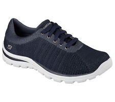 64599 Navy Skechers Shoes Men's New Memory Knit Mesh Casual Comfort Oxford Light