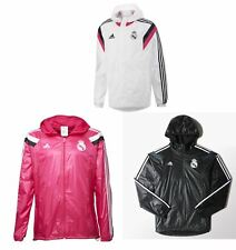 Adidas Real Madrid Anthem / All Weather Jacket Mens Football Soccer Full Zip Top