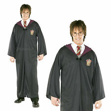 Mens Harry Potter Robe Rubies Fancy Dress Adults Griffindor Book Week Costume