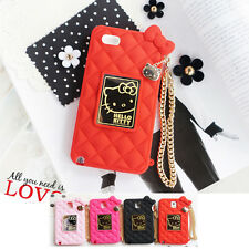 Hello Kitty Mirror Bag Silicone Card Bumper Cover Case For Apple iPhone 6 / 6S