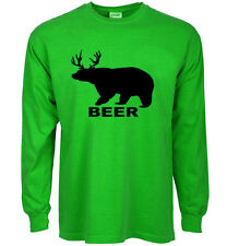 funny st patricks day t-shirt BEER bear deer drinking green st paddys day tee